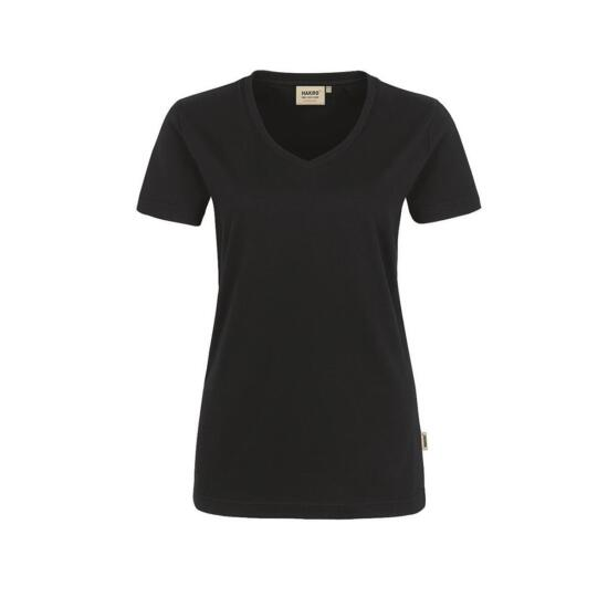 Hakro Damen-V-Shirt Performance schwarz