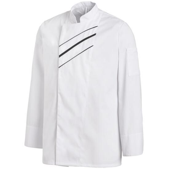 Unisex-Kochjacke weiß/schwarz