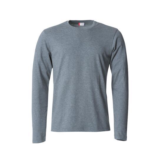Basic-T L/S grey melange