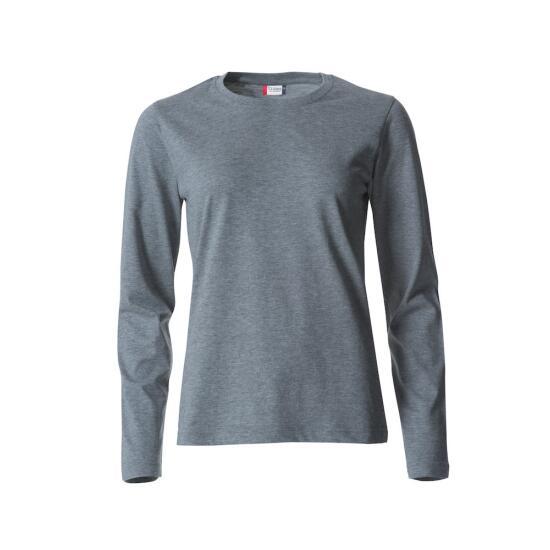Basic-T L/S Ladies grey melange