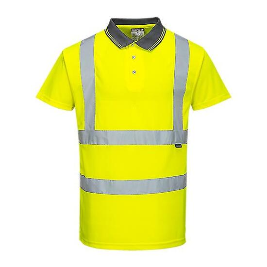 Polo Shirt Warnschutz Gelb
