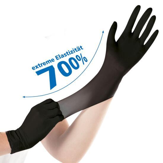 Nitril-Handschuhe Safe Super Stretch schw puderfrei