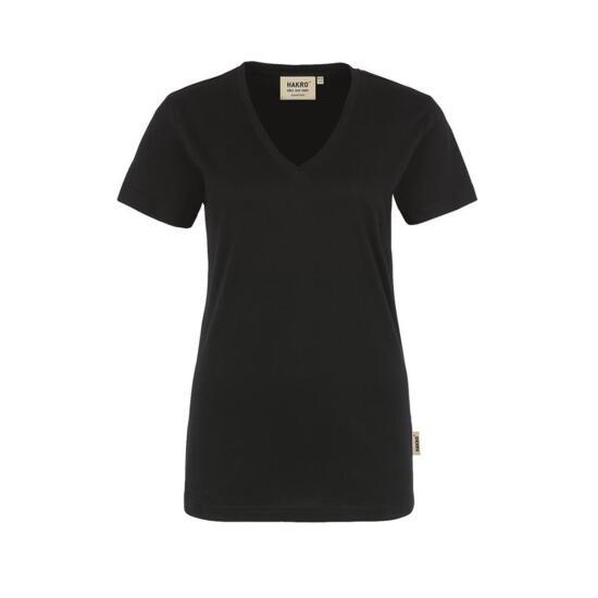 Hakro Damen-V-Shirt Classic schwarz