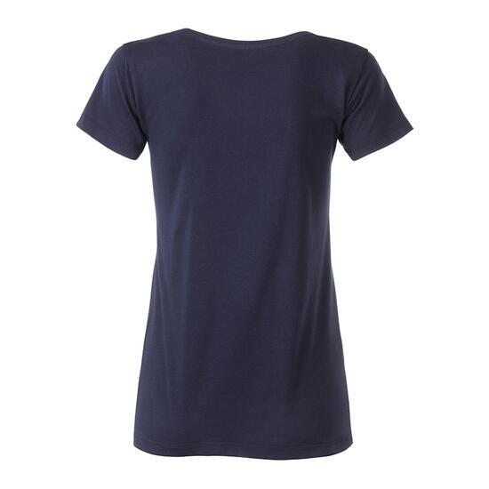 James & Nicholson Ladies-T Pocket blau