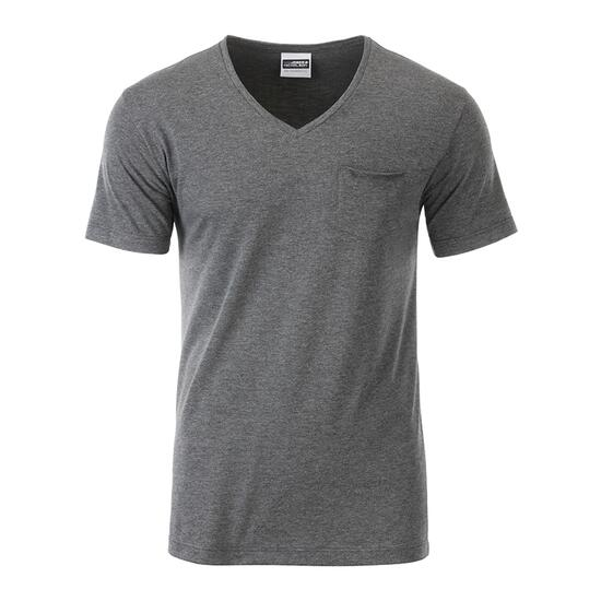 James & Nicholson Mens-T Pocket schwarz