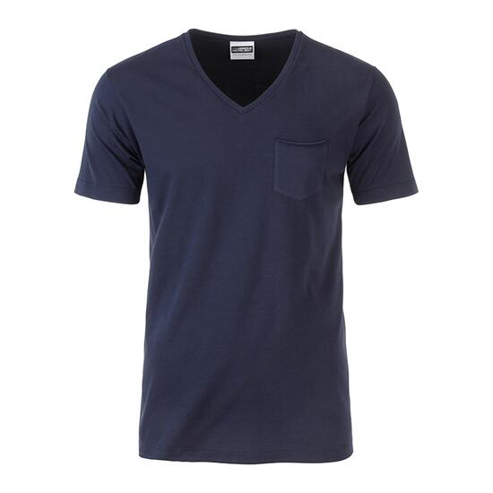 James & Nicholson Mens-T Pocket blau