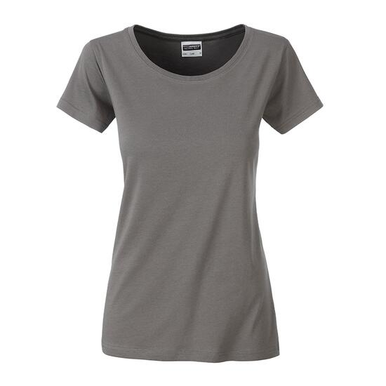 James & Nicholson Ladies Basic-T grau