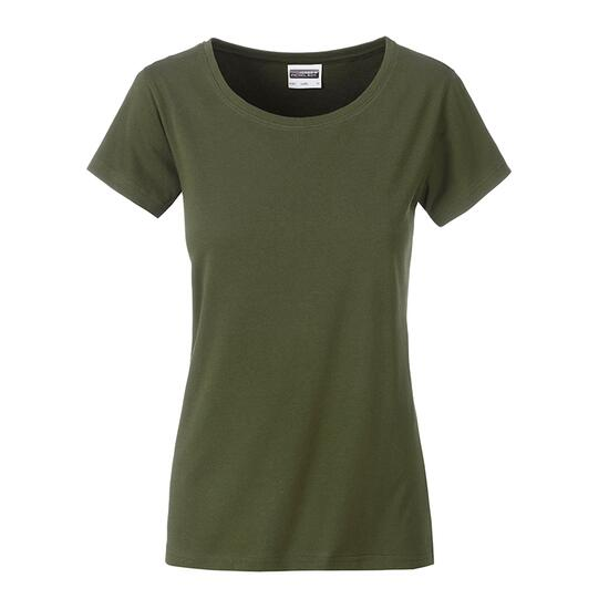 James & Nicholson Ladies Basic-T braun/grün