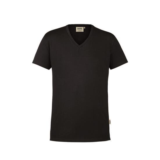Hakro V-Shirt Stretch schwarz