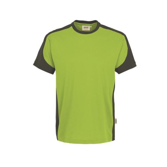 Hakro T-Shirt Contrast Performance kiwi/anthrazit