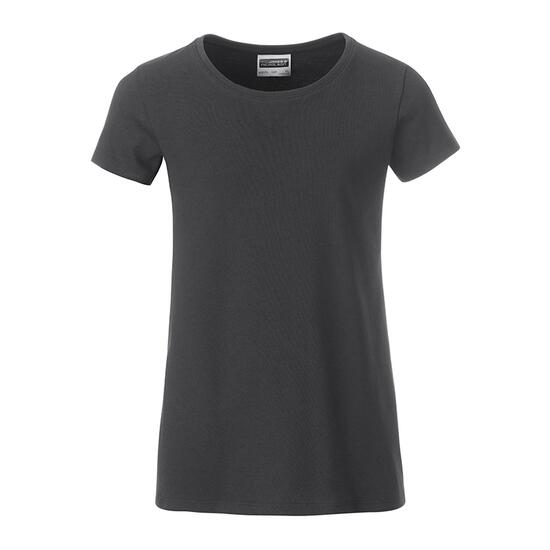 James & Nicholson Girls Basic-T grau