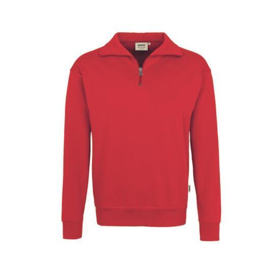 Hakro Zip-Sweatshirt Premium rot