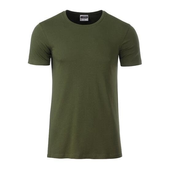 James & Nicholson Mens Basic-T braun/grün