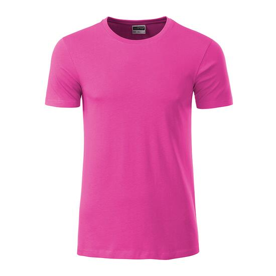 James & Nicholson Mens Basic-T pink