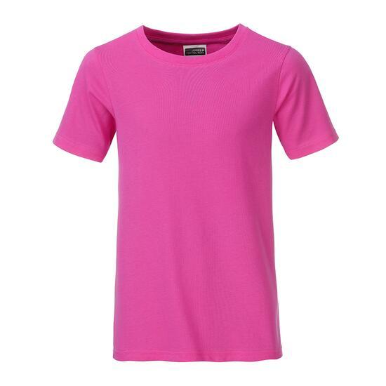 James & Nicholson Boys Basic-T pink