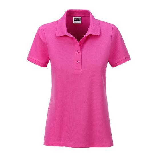 James & Nicholson Ladies Basic Polo pink