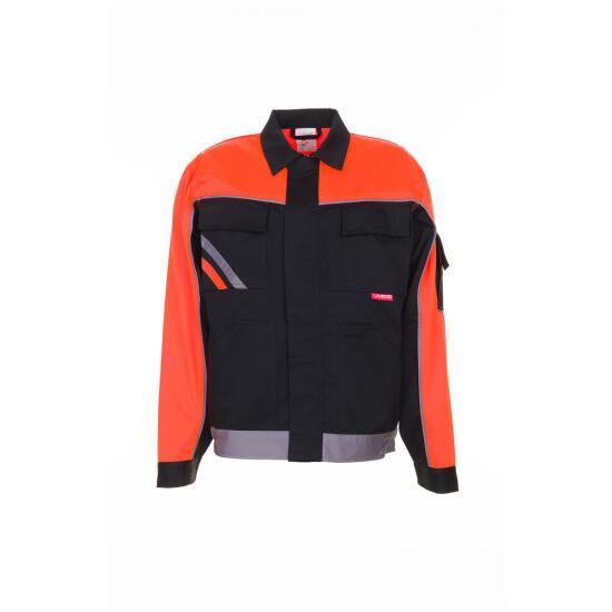 V1 Bundjacke schwarz/orange/zink