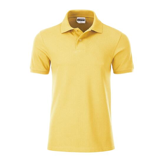 James & Nicholson Mens Basic Polo gelb
