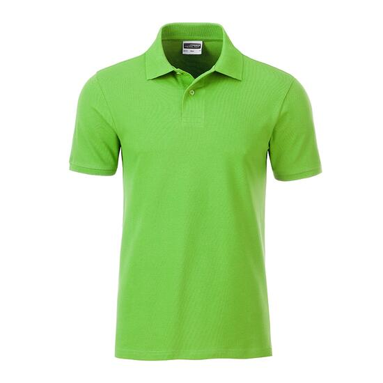 James & Nicholson Mens Basic Polo grün