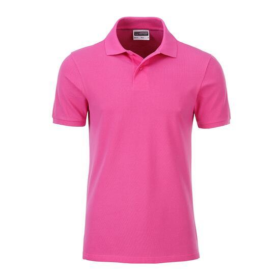 James & Nicholson Mens Basic Polo pink