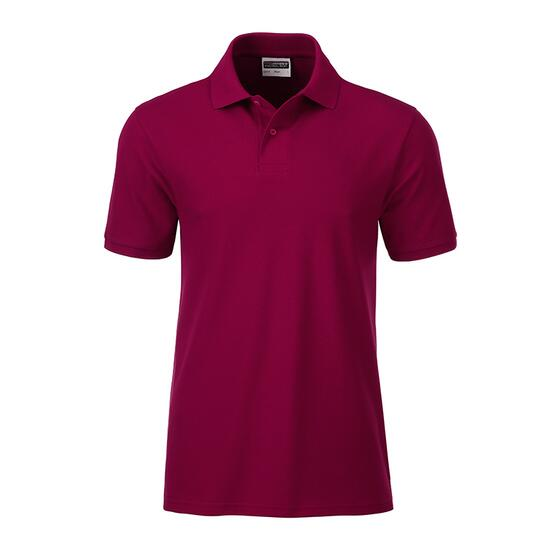 James & Nicholson Mens Basic Polo rot