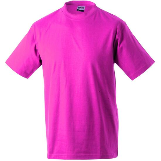 James & Nicholson Round-T Heavy (180g/m²) pink