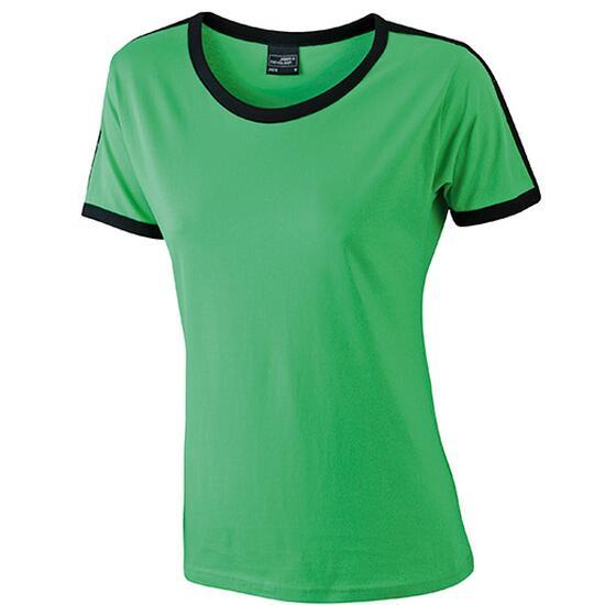 James & Nicholson Ladies Flag-T schwarz/grün