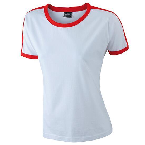 James & Nicholson Ladies Flag-T weiß/rot