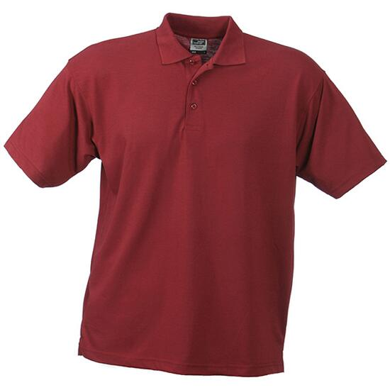 James & Nicholson Worker Polo weinrot