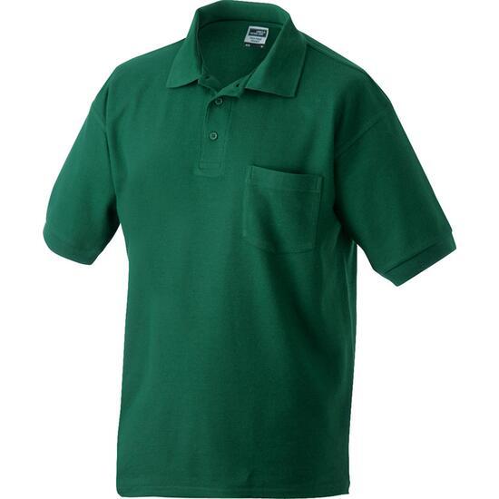 James & Nicholson Polo-Piqué Pocket grün