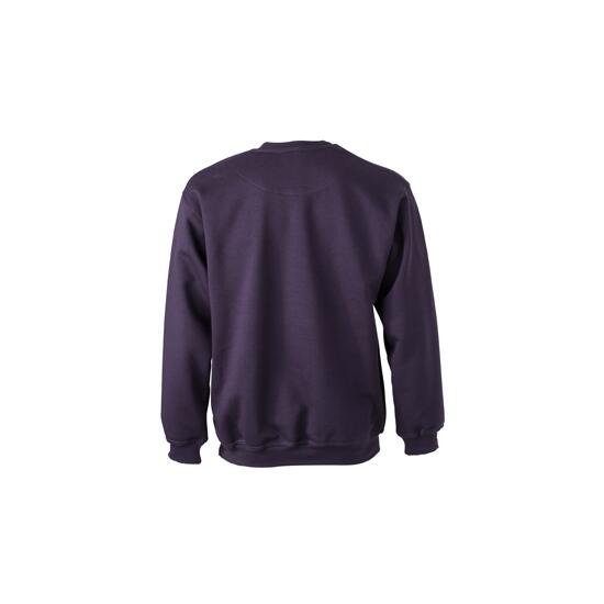 James & Nicholson Round-Sweat Heavy lila/braun