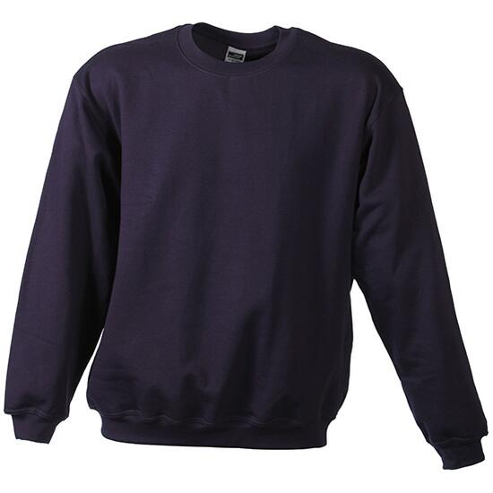 James & Nicholson Round-Sweat Heavy Junior grau