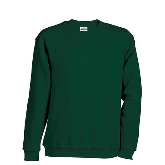 James & Nicholson Round-Sweat Heavy Junior grün