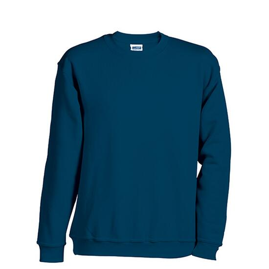 James & Nicholson Round-Sweat Heavy Junior blau