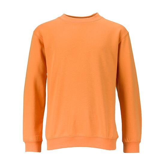 James & Nicholson Round-Sweat Heavy Junior orange