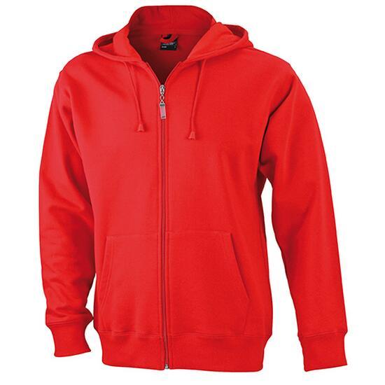 James & Nicholson Mens Hooded Jacket rot