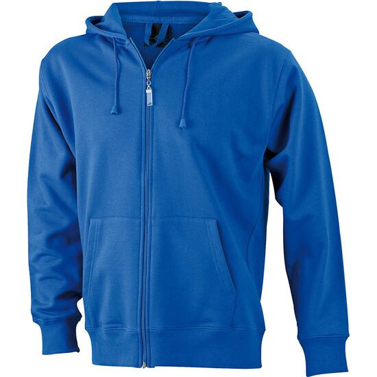 James & Nicholson Mens Hooded Jacket blau