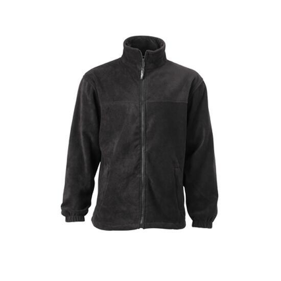James & Nicholson Full-Zip Fleece schwarz