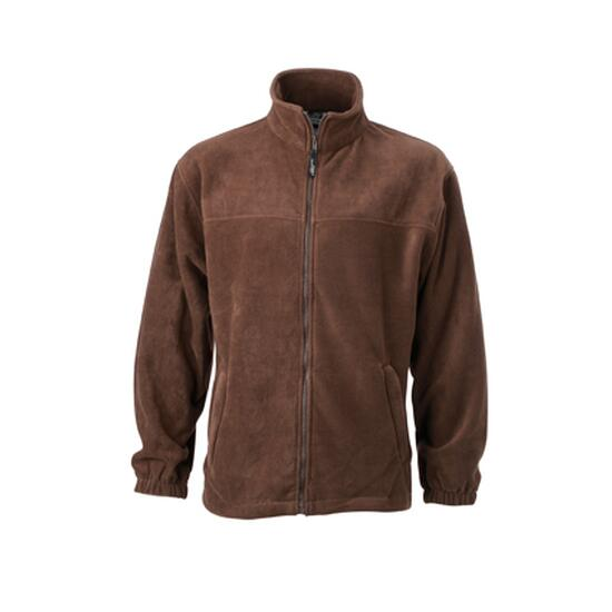 James & Nicholson Full-Zip Fleece braun