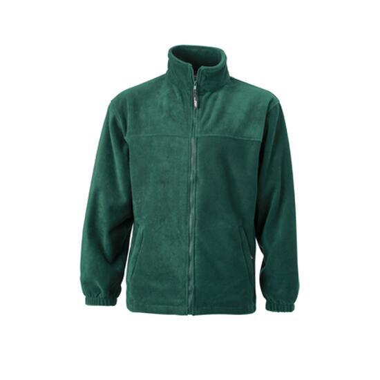 James & Nicholson Full-Zip Fleece grün
