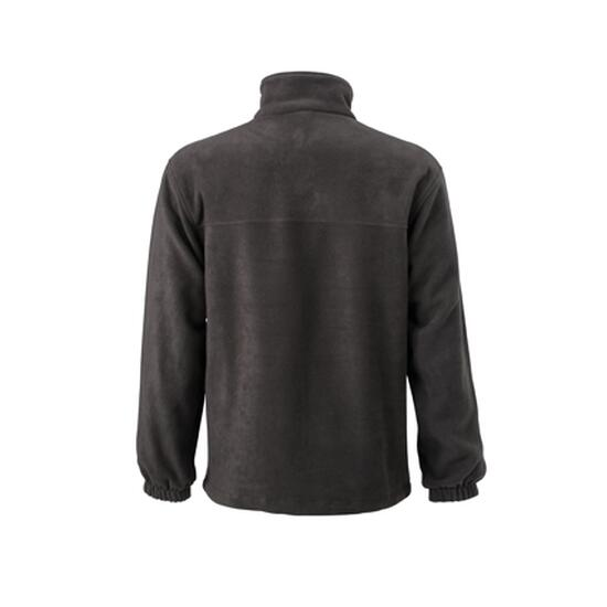 James & Nicholson Full-Zip Fleece grau