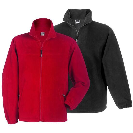 James & Nicholson Full-Zip Fleece grün