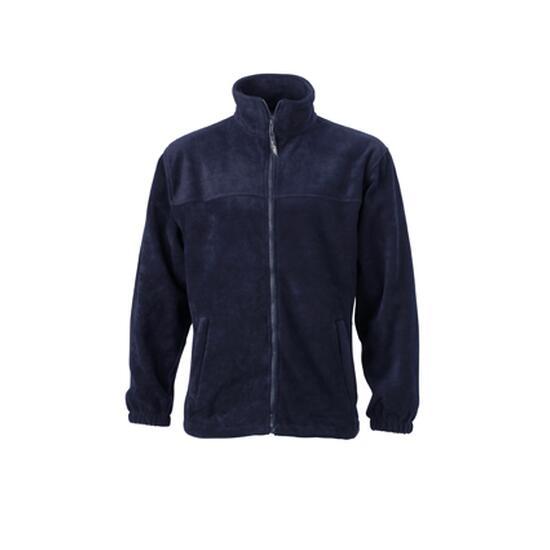 James & Nicholson Full-Zip Fleece blau