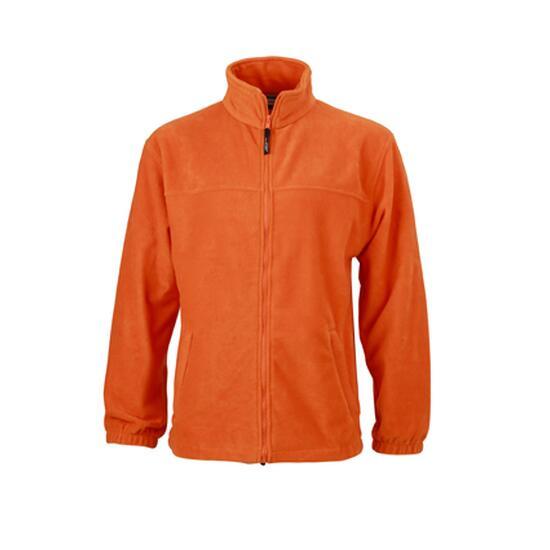James & Nicholson Full-Zip Fleece orange