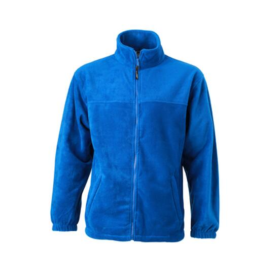 James & Nicholson Full-Zip Fleece blau