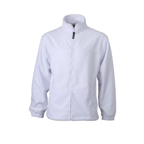 James & Nicholson Full-Zip Fleece weiß