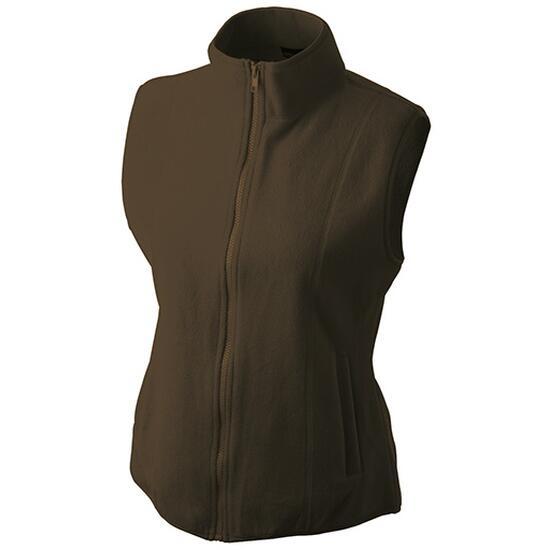 James & Nicholson Girly Microfleece Vest braun