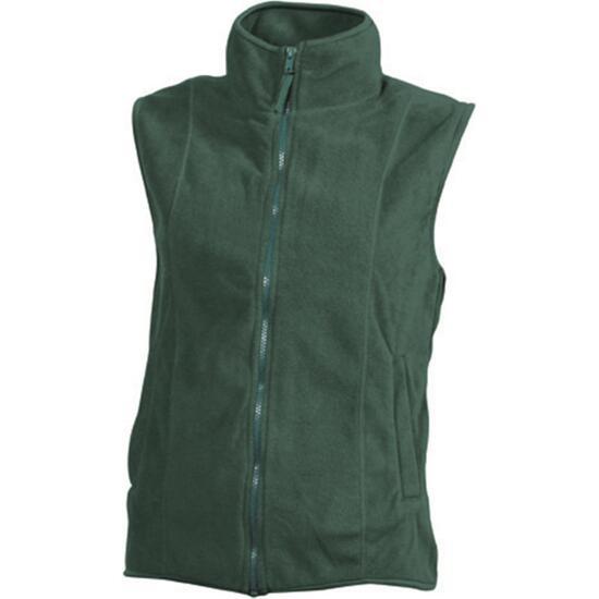 James & Nicholson Girly Microfleece Vest grün