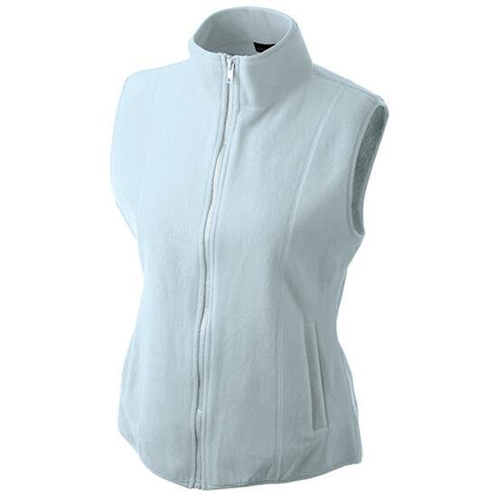 James & Nicholson Girly Microfleece Vest blau
