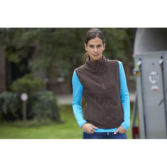 James & Nicholson Girly Microfleece Vest grün
